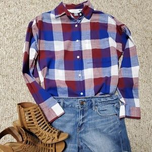 Women's Old Navy plaid button down shirt Small